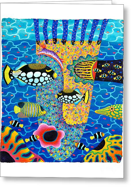 Marine Mollusc Paintings Greeting Cards - Blue Planet 11 Greeting Card by Opas Chotiphantawanon