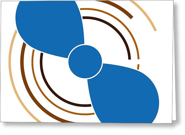 Blue Drawings Greeting Cards - Blue Propeller Greeting Card by Frank Tschakert