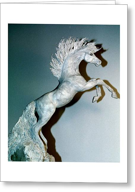 Marble Sculptures Greeting Cards - Blue Quartz Greeting Card by Caroline Czelatko