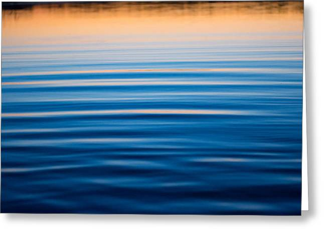 Sunset Abstract Greeting Cards - Blue Reflections Greeting Card by Parker Cunningham