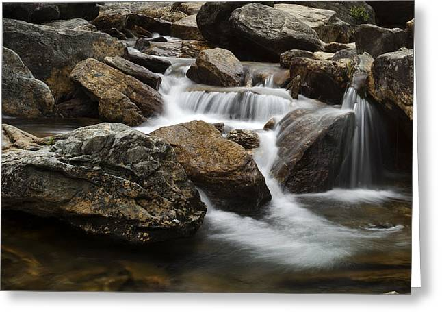 Summer Photos Greeting Cards - Blue RIdge Cascade Greeting Card by Andrew Soundarajan