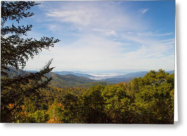 Recently Sold -  - Smokey Mountain Drive Greeting Cards - Blue Ridge Mountains - A Greeting Card by James Fowler