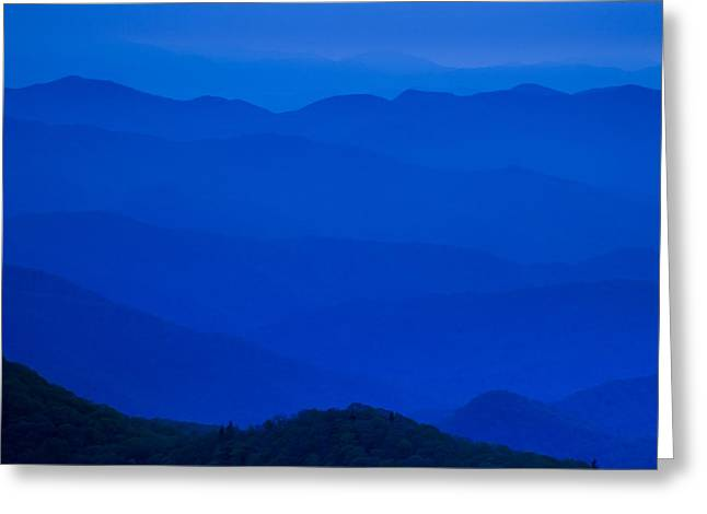 Twilight Views Greeting Cards - Blue Ridge Mountains Greeting Card by Andrew Soundarajan