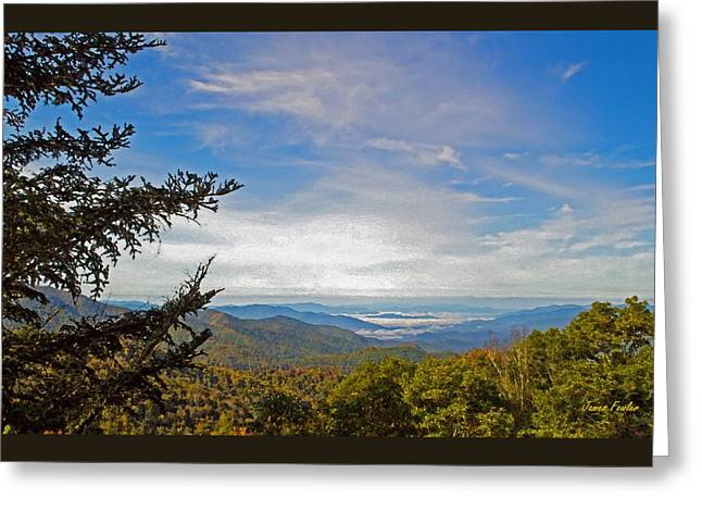 Recently Sold -  - Smokey Mountain Drive Greeting Cards - Blue Ridge Mountains - AP Greeting Card by James Fowler