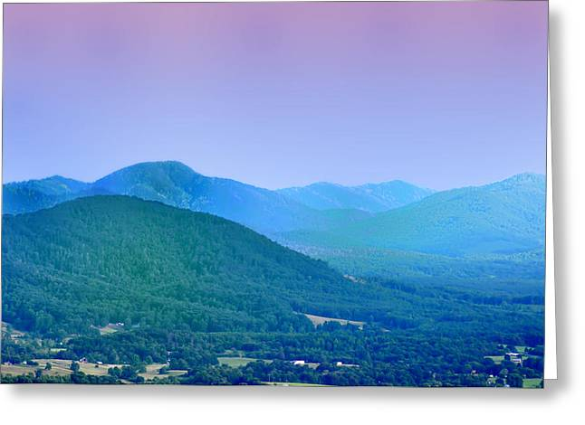 Tennesee Greeting Cards - Blue Ridge Mountains Greeting Card by Bill Cannon