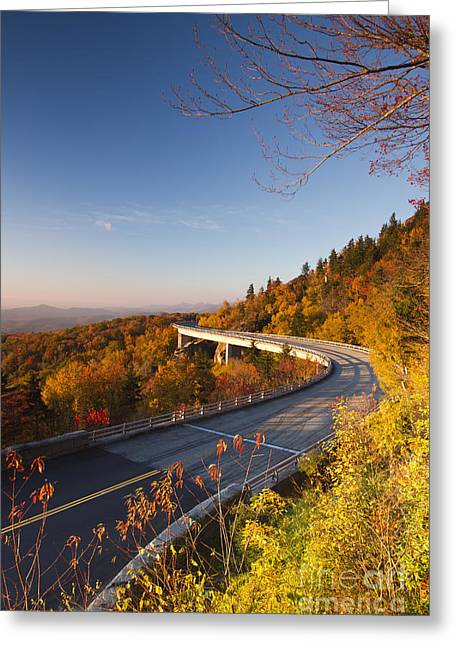 Blue Ridge Parkway Greeting Cards - Blue Ridge Parkway Linn Cove Viaduct Fall Colors 2 Greeting Card by Dustin K Ryan