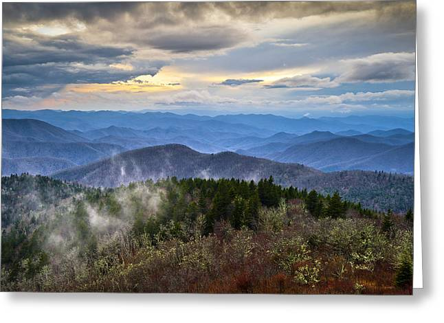 Blue Ridge Parkway Scenic Landscape Photography - Blue Ridge Blues Greeting Card by Dave Allen