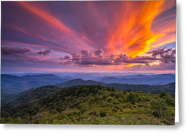 Western North Carolina Greeting Cards - Blue Ridge Parkway - Summer Wages Greeting Card by Jason Penland