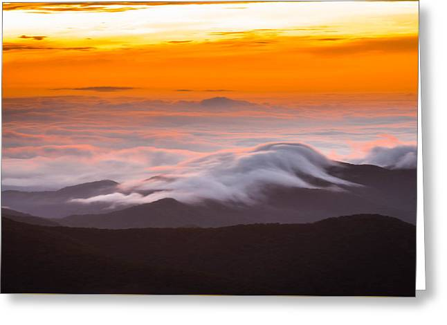 Layer Greeting Cards - Blue Ridge Valley Of Clouds Greeting Card by Serge Skiba
