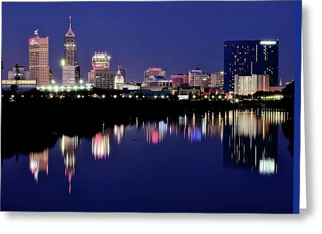 Indianapolis 500 Greeting Cards - Blue River Indianapolis Greeting Card by Frozen in Time Fine Art Photography