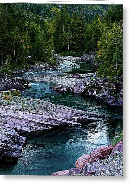 Blue River Greeting Card by Joseph Noonan