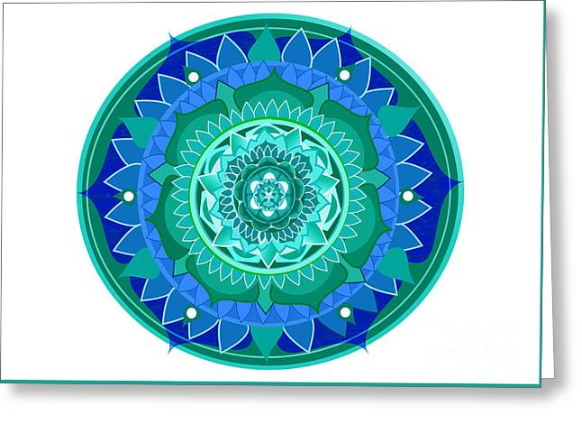 Patterned Greeting Cards - Blue rose Greeting Card by Hanna Jungeby