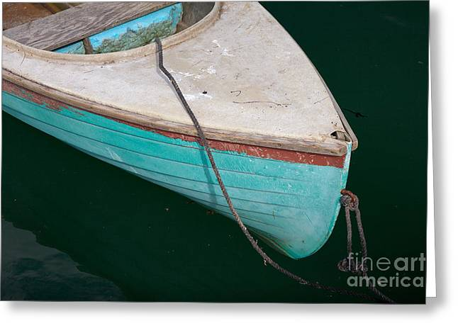 Blue Rowboat 1 Greeting Card by Susan Cole Kelly