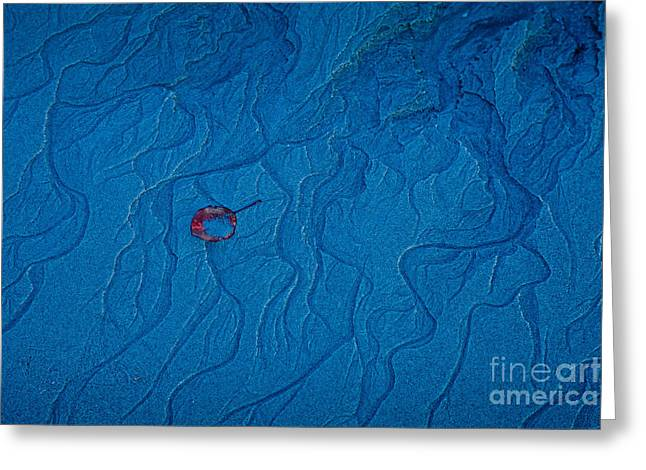Sand Patterns Greeting Cards - Blue Sand Greeting Card by Susan Cole Kelly