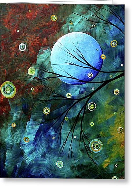 Buy Original Art Online Greeting Cards - Blue Sapphire 1 by MADART Greeting Card by Megan Duncanson