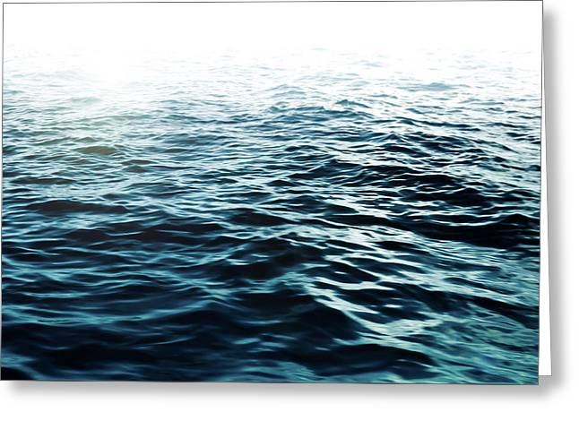 Blue Sea Greeting Card by Nicklas Gustafsson