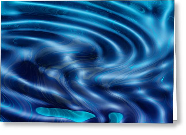 Digital Greeting Cards Greeting Cards - Blue sea of dreams Greeting Card by Evelyn Patrick
