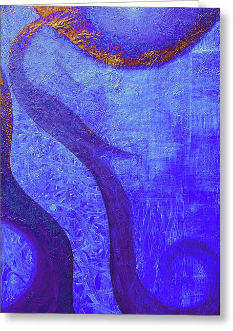 Inner World Paintings Greeting Cards - Blue Seed Greeting Card by Ishwar Malleret