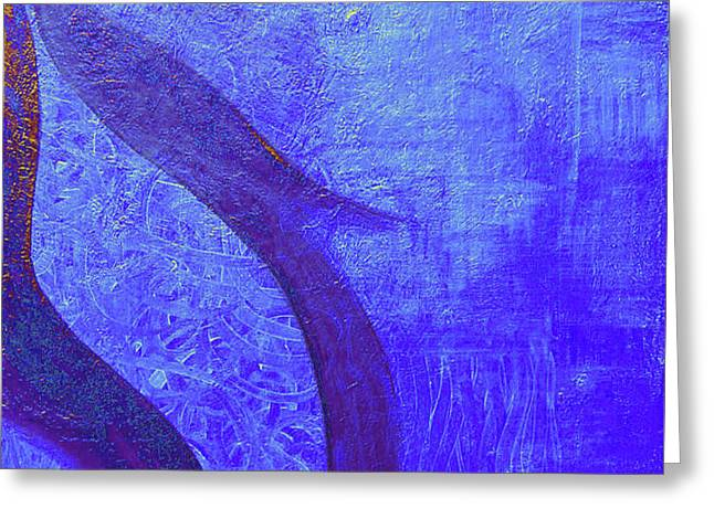 Blue Seed Greeting Card by Ishwar Malleret