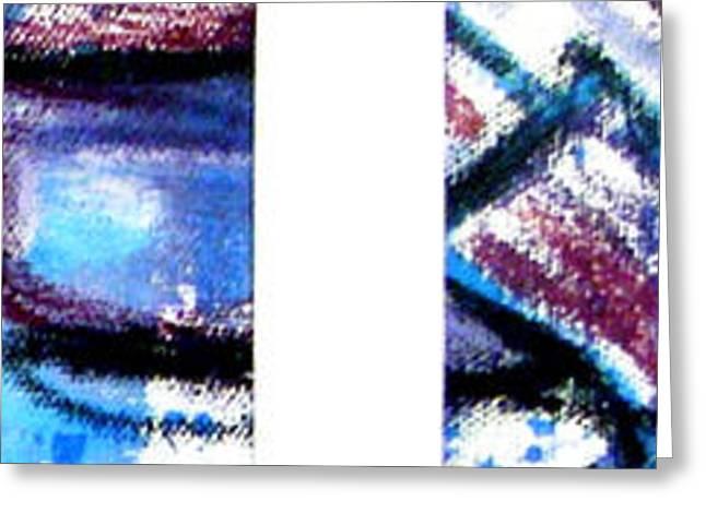 Jera Sky Greeting Cards - Blue Series 3 of 3 Greeting Card by Jera Sky