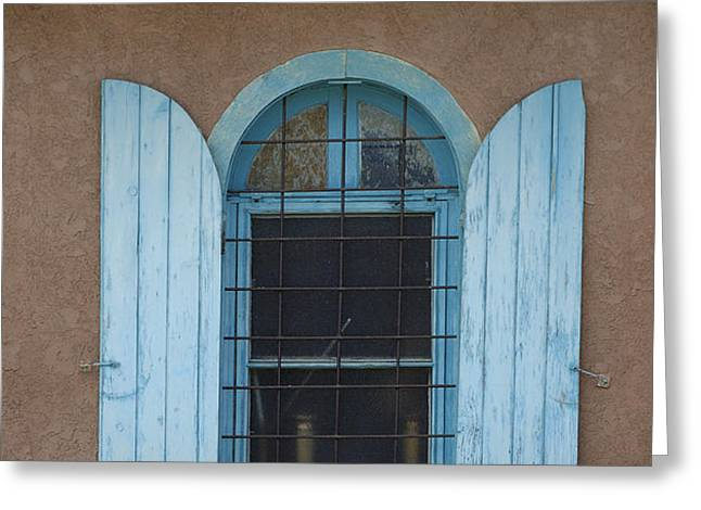 Blue Shutters Greeting Card by Jerry McElroy