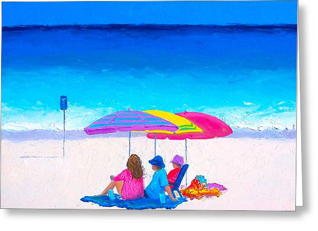 Blue Skies Clear Water Greeting Card by Jan Matson