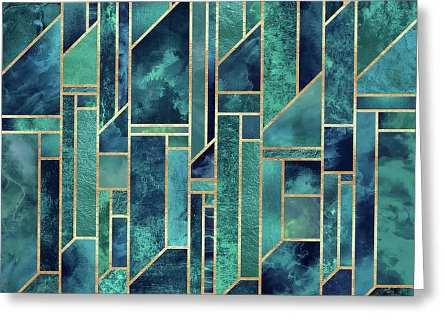 Blue Skies Greeting Card by Elisabeth Fredriksson