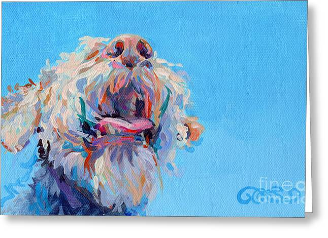 Airedale Terrier Greeting Cards - Blue Skies Greeting Card by Kimberly Santini