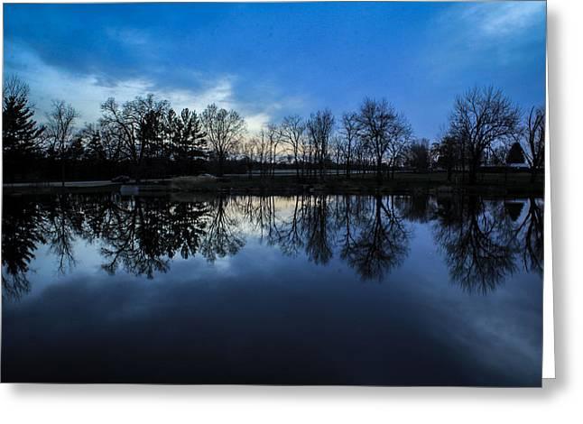 Fishing Creek Greeting Cards - Blue Skies Surround Me Greeting Card by Viviana  Nadowski