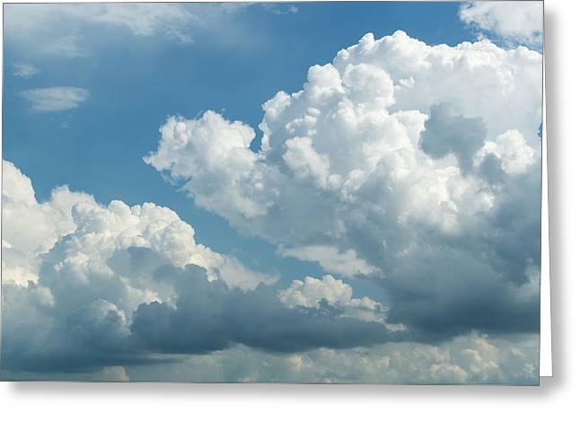 Overcast Day Greeting Cards - Blue Sky and White Clouds Greeting Card by John Williams