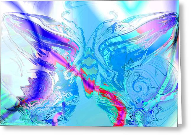 Nature Abstracts Greeting Cards - Blue Sky Butterfly Greeting Card by Stephen  Killeen