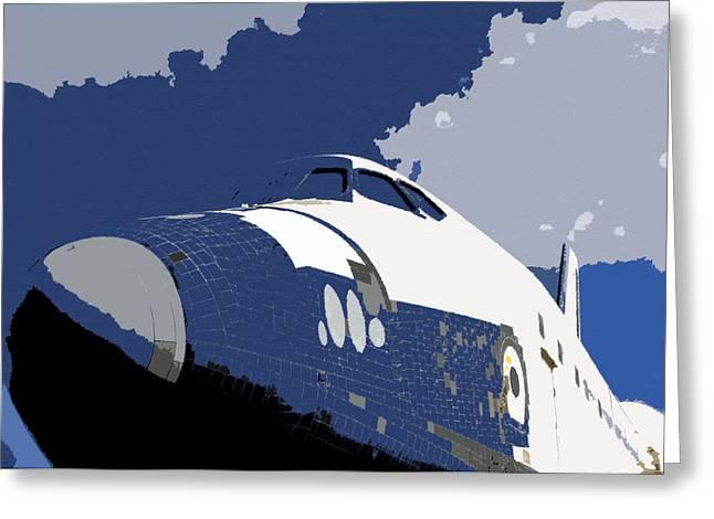 Blue sky shuttle Greeting Card by David Lee Thompson