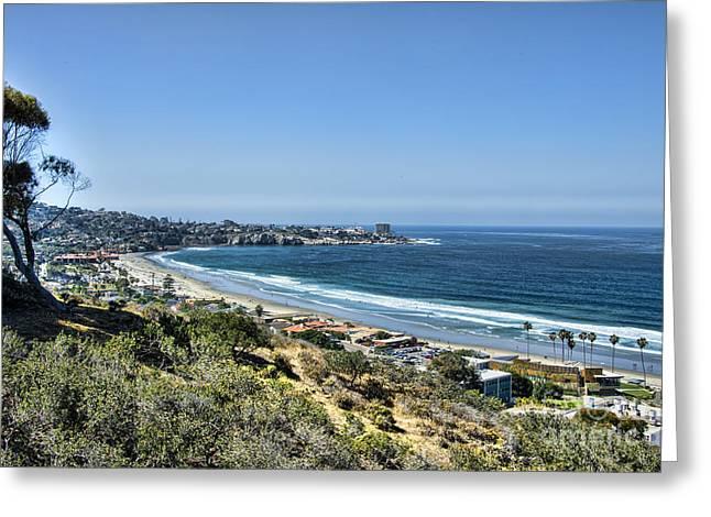 California Beach Art Greeting Cards - Blue Skies La Jolla Greeting Card by Keith Ducker