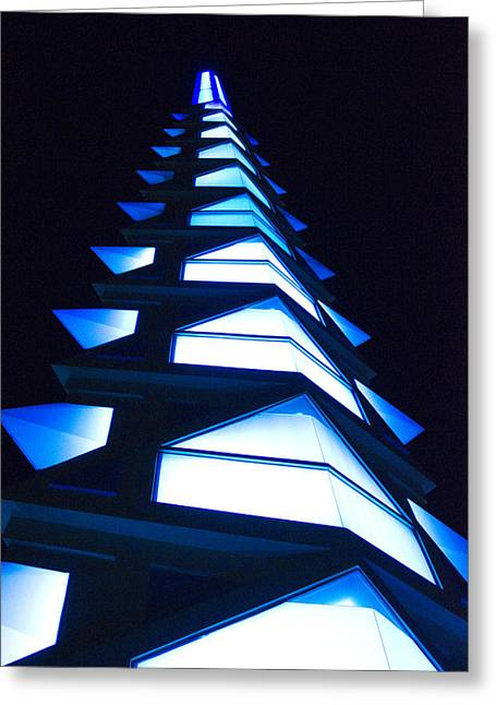 White Blue Greeting Cards - Blue Spire Greeting Card by Richard Henne