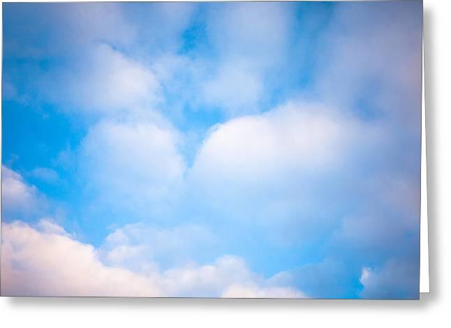 Blue Square Greeting Card by Konstantin Dikovsky