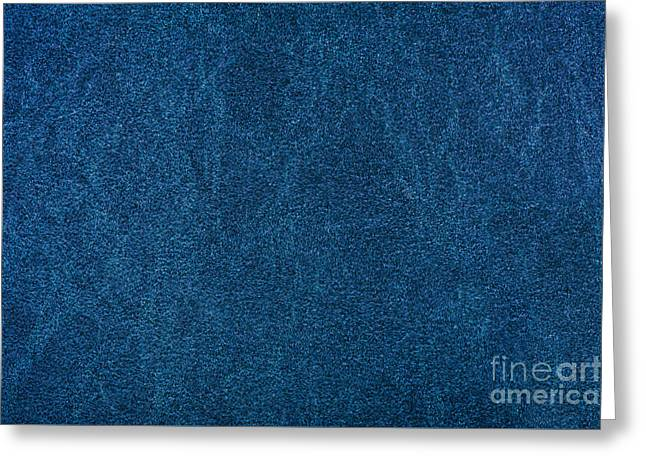 Blue Stained Cardboard Texture Greeting Card by Arletta Cwalina