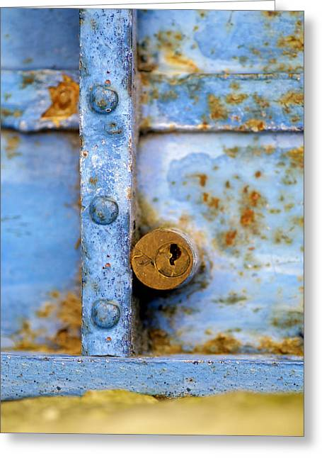 Metallic Sheets Greeting Cards - Blue Steel Greeting Card by Al Hurley