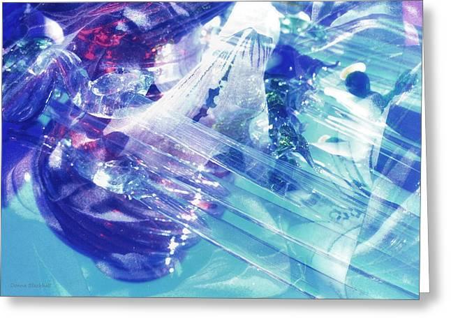 Interior Still Life Greeting Cards - Blue Storm Greeting Card by Donna Blackhall