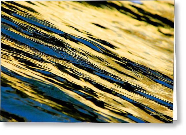 Water Flowing Greeting Cards - Blue Streak Greeting Card by Donna Blackhall