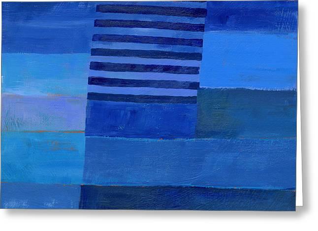 Blue Stripes 7 Greeting Card by Jane Davies