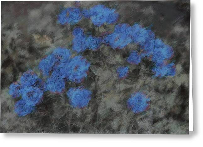 Depression Pastels Greeting Cards - Blue Summer Roses Greeting Card by  The Art Of Marilyn Ridoutt-Greene
