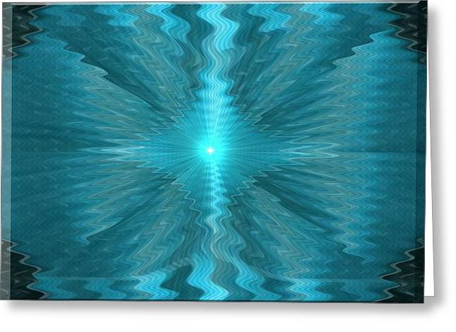 Jewelry Pastels Greeting Cards - Blue Sun Exploding H b Greeting Card by Gert J Rheeders