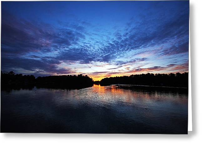Blue sunset Greeting Card by Ty Helbach