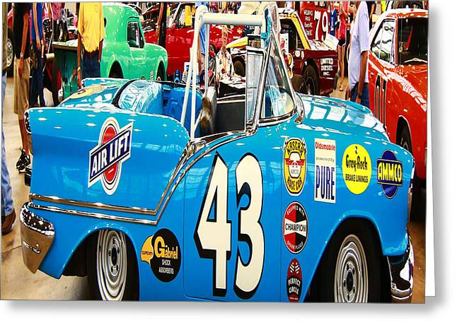 Purchase Greeting Cards - Blue Supped Up Convertible Greeting Card by Linda Ritlinger