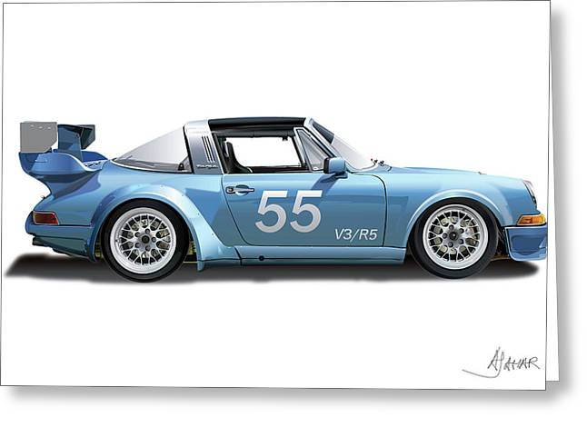 Owner Digital Greeting Cards - Blue Targa Greeting Card by Alain Jamar
