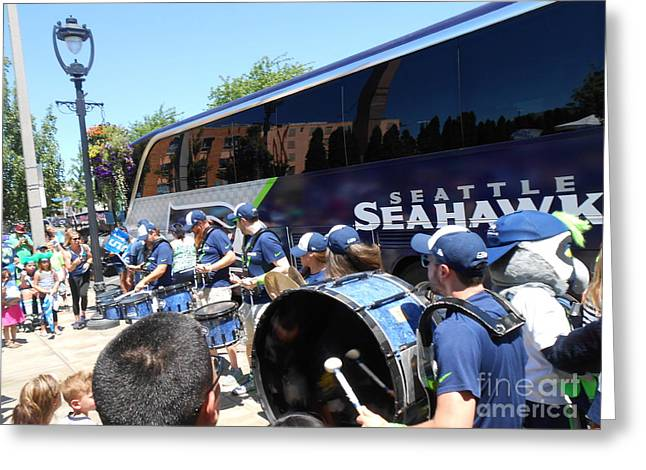 Marching Band Greeting Cards - Blue Thunder Greeting Card by LKB Art and Photography