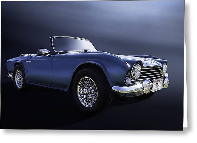 Auto Greeting Cards - Blue TR4 Greeting Card by Douglas Pittman