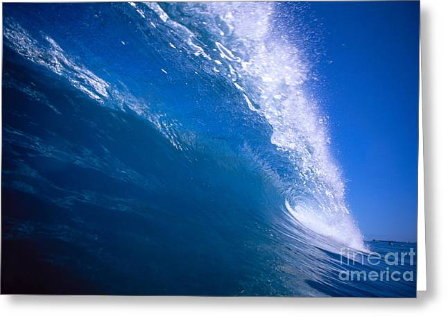 Vince Greeting Cards - Blue Translucent Wave Greeting Card by Vince Cavataio - Printscapes