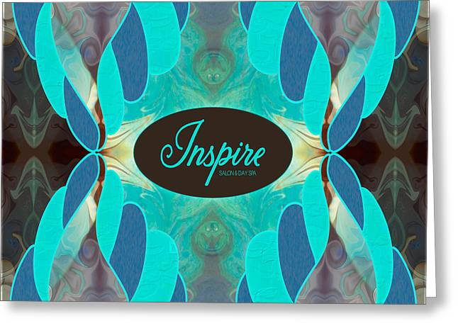 Blue Grapes Drawings Greeting Cards - Blue Turquoise Inspiration Abstract Tote Bag Art by Omashte Greeting Card by Omaste Witkowski