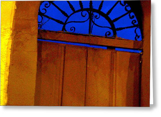 Blue Twilight by Michael Fitzpatrick Greeting Card by Olden Mexico